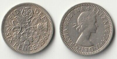 £1.06 • Buy 1962 Great Britain Sixpence Coin