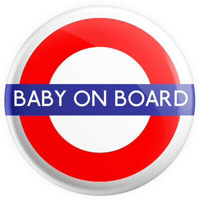 £0.99 • Buy Baby On Board TFL 38mm Brand New Button Pin Badge - Novelty Pin Badge.