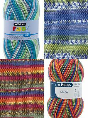 Patons FAB DK Double Knit Wool 100g - Knitting Yarn - All Colours Available • 3.25£