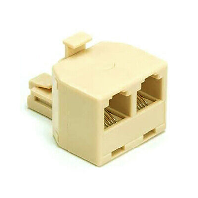 £2.48 • Buy 2 Way Modular TELEPHONE Line Cable Wall Outlet SPLITTER Double Jack Connector