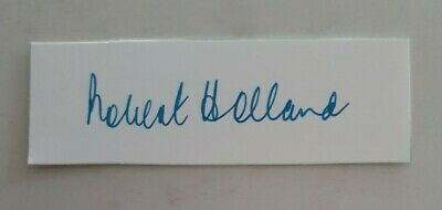 AU11.25 • Buy Robert Holland Bob Cricket Signed In Person  Neat Card England Ashes Australia