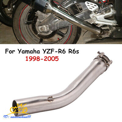 $57.06 • Buy For Yamaha YZF-R6 R6s 1998-2005 Exhaust Middle Mid Pipe Connection Tube Slip On