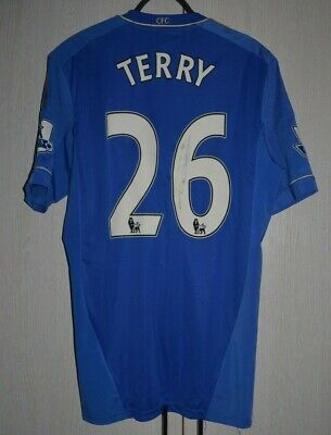 Match Worn Chelsea 2012/2013 Football Shirt Jersey Adidas Techfit 8 Terry Signed • 499.99£