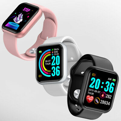 AU23.99 • Buy Smart Watch Heart Rate Blood Pressure Fitness Tracker Pedometer For Android IOS