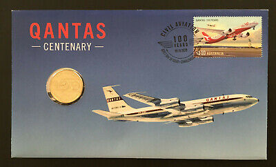 $45.71 • Buy 2020 Qantas Centenary Stamp First Day Cover $1.00 Coin Pnc