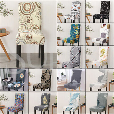 AU25.99 • Buy Stretch Dining Chair Covers Slipcover Spandex Wedding Cover 1/4/6/8Pcs Removable