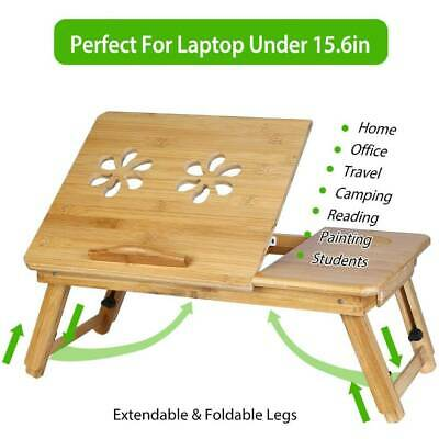 Adjustable Laptop Stand Computer PC Table Bed Folding Cooling Desk Portable Tray • 15.88£