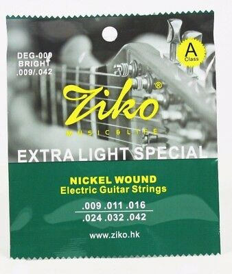 $ CDN3.61 • Buy Ziko Electric Guitar Strings Set Extra Light Soft Electric 009 UK SHIPPING