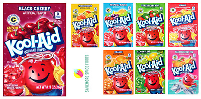 KOOL AID SACHET - DRINKS - AMERICAN CANDY SWEET SUMMER DRINK - 8 X 6g OR 16 X 6G • 4.99£