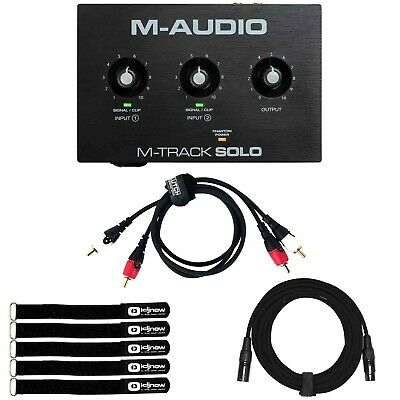 $62.40 • Buy M-Audio M-TRACK SOLO 2-Channel USB Audio Recording Interface W Cables