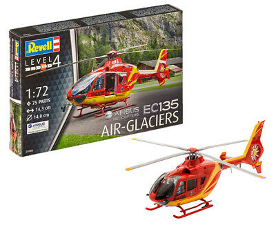 Revell 1:72 Scale Starter Set- Airbus Helicopters  EC135 AIR-GLACIERS -Ref 64986 • 10.45£