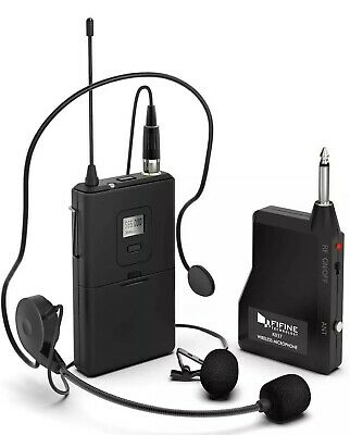 FIFINE K037 Wireless Microphone Set With Headset /Lavalier Lapel Mic • 23.56£