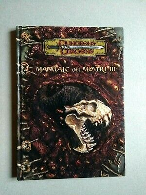 AU156.62 • Buy Manuale Dei Mostri III 3.5 Dungeons & Dragons D&D