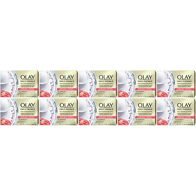 AU91.07 • Buy 10 X Olay Daily Facials Regular Dry Cloths, Water Activated - 5-in-1 - Cleansing