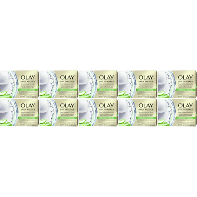 AU91.07 • Buy 10 X Olay Daily Facials Sensitive Water Activated Dry Cloths, 5-in-1 - Cleansing