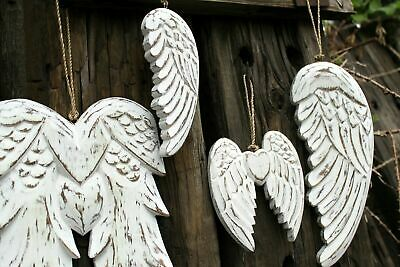 £11.99 • Buy Wooden Hand Crafted Angel Wings Shabby Chic Singel Or Double Angel Wings Plaque