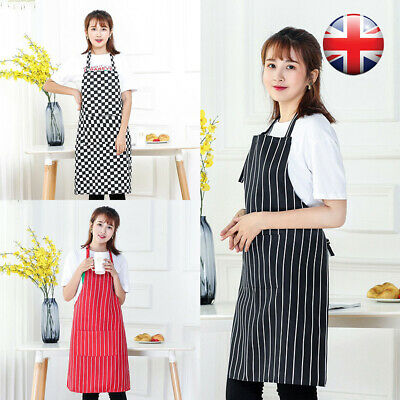 Womens Ladies Kitchen Chefs Aprons With Pocket For Cooking Baking BBQ Catering • 6.26£