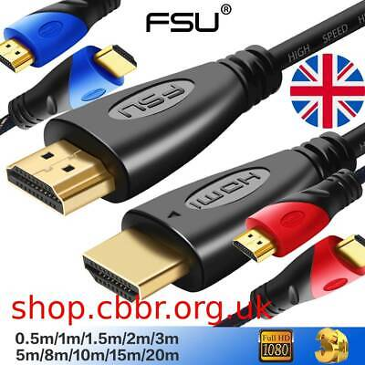 $4.67 • Buy FSU HDMI1.4 Cable 1080P Cable For TV/PC Monitor Male To Male 1m - 20m