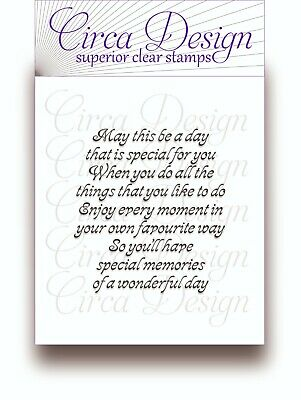Clear Unmounted Celebration New Home Sentiment Verse Rubber Stamp EDVS22 • 5.25£