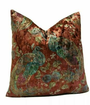 Art Of The Loom Peacock Cranberry 18  X 18  / 45cm X 45cm Cushion Cover • 34.99£