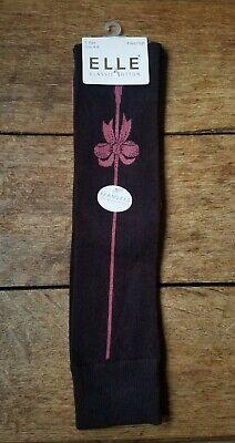 ELLE Brown Knee High Retro 1950s Stocking Style Socks Size 4 - 8 BNWT • 3.40£
