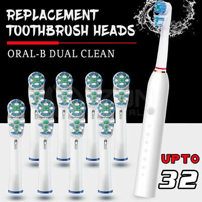 AU6.70 • Buy DUAL CLEAN Oral-B Compatible Tooth Brush Heads Electric Replacement Floss Flexi