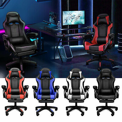 AU135 • Buy Gaming Chair Office Executive Computer Chairs Racing Seating Footrest Racer