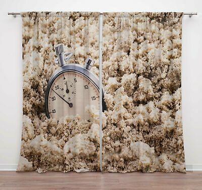 Timingila White Nautical Watch Vintage Window Curtains For Bedroom-REg • 47.99£