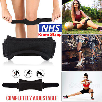 Adjustable Knee Support Patella Tendon Strap Jumpers Runners Pain Band Brace • 3.49£