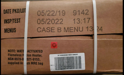 $89.99 • Buy US Military MRE Case B Inspection Date 5/2022