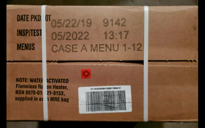 $89.99 • Buy US Military MRE Case  A  Inspection Date 5/2022