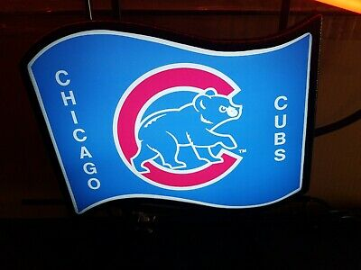 $ CDN44.18 • Buy Budweiser Beer Chicago Cubs Bear Plastic Neon Sign Insert Part Logo REPLACEMENT