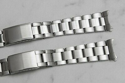 $ CDN24.19 • Buy Oyster Watch Band With Curved End Links Polished Or Brushed Center 18mm Or 20mm