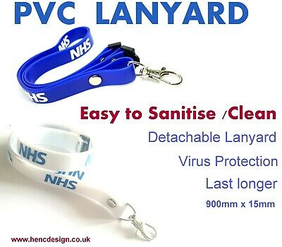 New PVC Lanyards Detachable ID Badge Holder With Metal Hook , Easy To Sanitise  • 3.99£