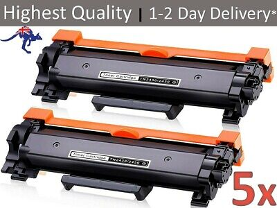 AU64.95 • Buy 5x TN-2450 CHIPPED Toner For Brother MFC-L2713DW MFC-L2730DW MFC-L2750DW L2350DW