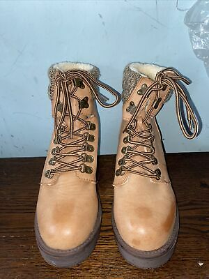 New Tan Lace Up Ankle Boots Size 6 EUR 39 • 15£