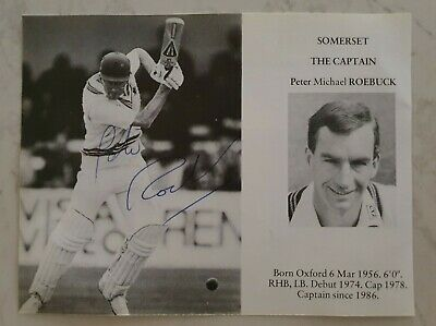 AU15 • Buy Peter Roebuck Rare Signed Book Plate Pen Pic Picture England Cricket Ashes