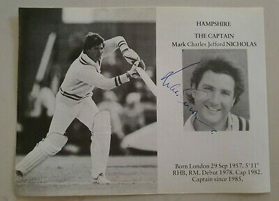 AU12.50 • Buy Mark Nicholas Rare Signed Book Plate Pen Pic Picture England Cricket Ashes