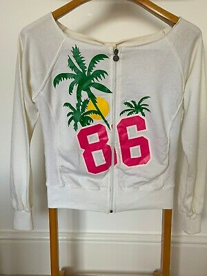 £12.99 • Buy White Franklin Marshall Tropical Tracksuit Top With Zip Size M BNWT