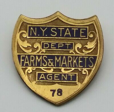 £70.79 • Buy 1930's New York State Department Of Farms & Markets Agent Badge