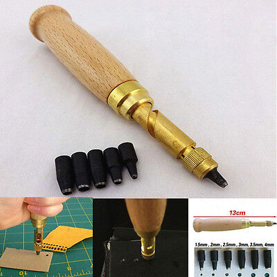 AU15.59 • Buy 6 In 1 Automatic Hole Punch Cutter Book Drill For Sewing Leather Fiber Tool