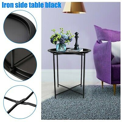 Folding Coffee Table Sofa Side Small Night Stand End Table Tray Legs Console • 18.99£