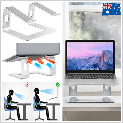 """AU24.98 • Buy Portable Aluminium Laptop Stand Tray Holder Cooling Riser For 11""""-17  Laptops"""