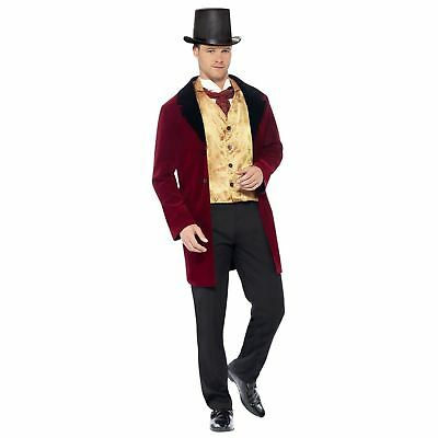 Adults Black Stovepipe Top Hat Mens Ladies Old England Ringmaster Fancy Dress