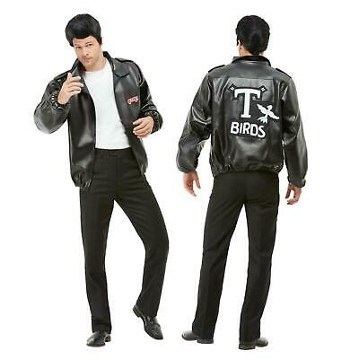 £32.55 • Buy Official Grease T-Birds Jacket With Embroidered Logo Black Faux Leather Danny
