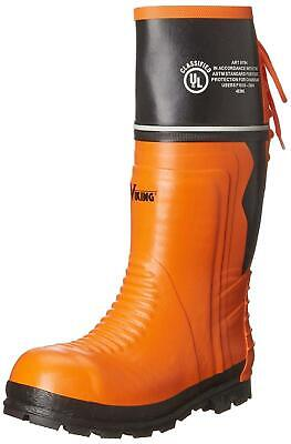 Viking Footwear Mens VW64-1 Closed Toe Knee High Safety, Orange/Black, Size 9.0 • 44.99£