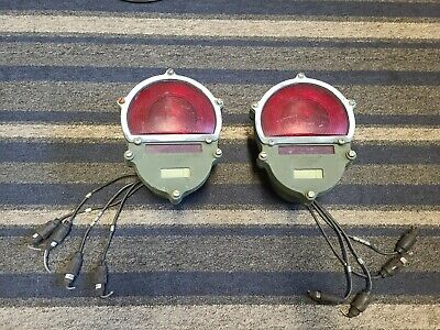 $99.99 • Buy Military Hummer Red Stop & Tail Lights MFR-5A910