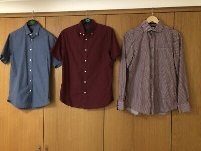 X3 COLLARED BUTTON MEN'S SHIRTS - SMALL S - ATLANTIC BAY CANDA - BUNDLE SHORT • 3.99£