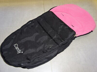 ICandy Apple Footmuff/Cosytoes For Seat Unit Black & Pink Fits Strawberry Peach  • 29.99£