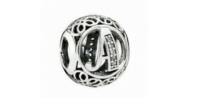 AU44.10 • Buy New Authentic Genuine PANDORA Vintage Letter A Openwork Charm - 791845CZ RETIRED